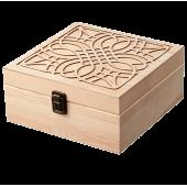 Drevená krabica na esenciálne oleje