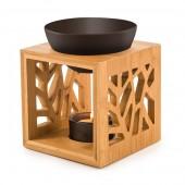 Aromalampa bambusová s keramickou miskou - čierna