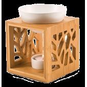 Aromalampa bambusová s keramickou miskou