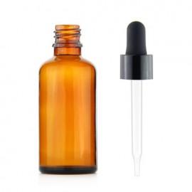 Sklenená fľaška s pipetkou