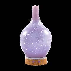 Elektrický difuzér a zvlhčovač - fialové sklo