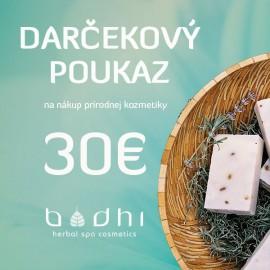 Darčekový poukaz v hodnote 30 €