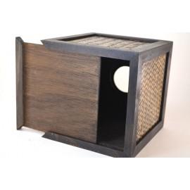 Ratanový BOX na servítky kocka