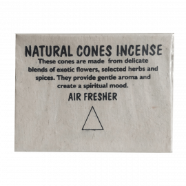 Vonné kužele AMBER Natural Cones Incense