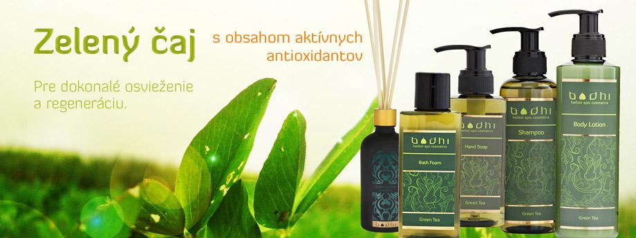 Prírodná kozmetika zelený čaj